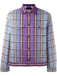 J.W.Anderson Degrade Plaid Jacket Pink Purple