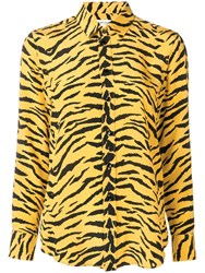 Saint Laurent Zebra Print Shirt Yellow