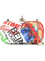 Vivienne Westwood Hearts Print Chain Strapped Clutch