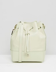 Modalu Leather Bucket Shoulder Bag Pistachio Green