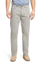 Peter Millar Men's Big And Tall Stretch Sateen Five Pocket Pants Grey