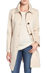 Fleurette Women's Fit And Flare Wool Coat Blanco