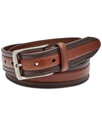 Fossil Men's Boston Embossed Leather Belt Brown