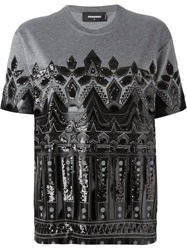 Dsquared2 Sequin T Shirt Grey