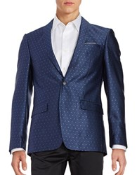 Tallia Orange Dotted Dinner Jacket Navy