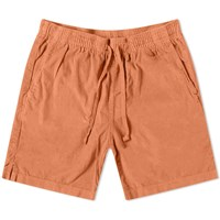 Save Khaki Wale Corduroy Easy Short Orange