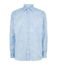 Etro Tribal Print Shirt Male Light Blue