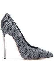 Casadei Micro Pleated Pumps Grey