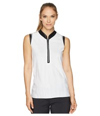 Jamie Sadock Crunchy Textured Sleeveless Top Sugar White