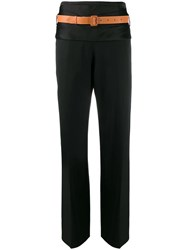Loewe High Waist Belted Trousers Black