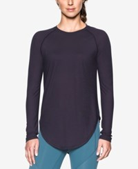 Under Armour Breathe Long Sleeve Top Imperial Purple