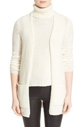 Enza Costa Cardigan Winter White