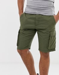 French Connection Millitary Cargo Shorts Green