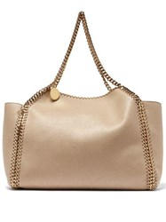 Stella Mccartney Falabella Small Reversible Faux Leather Tote Beige