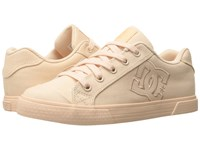 Dc Chelsea Tx W Peach Cream Women's Lace Up Casual Shoes Pink