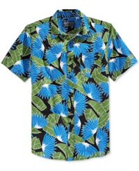 American Rag Men's Tropical Print Short Sleeve Shirt Only At Macy's Deep Black