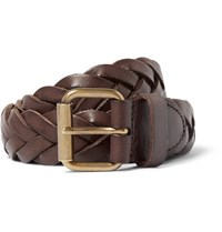 J.Crew 3Cm Brown Woven Leather Belt Brown