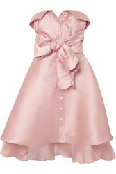 Alexis Mabille Tie Detailed Faille Mini Dress Blush