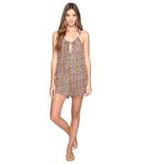 Volcom Current State Romper Cover Up Multi Women's Jumpsuit And Rompers One Piece
