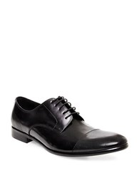 Steve Madden Pasage Leather Oxfords Black Leather