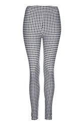 Topshop Gingham Print Leggings Monochrome