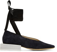 Jacquemus Navy Les Chaussures Lacees Loafers