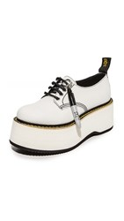 R 13 R13 X Stack Doodle Oxford Shoes White