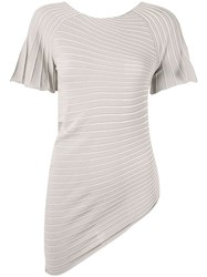 Emporio Armani Asymmetric Jersey T Shirt Brown