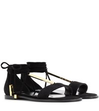 Pierre Hardy Blondie Suede Sandals Black