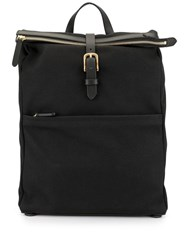 Mismo Buckle Fastening Backpack Black