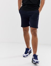 French Connection Jersey Taped Shorts Navy