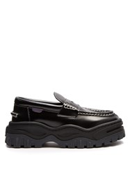 Eytys Angelo Leather And Rubber Platform Loafers Black