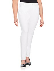 Lafayette 148 New York Plus Size Five Pocket Skinny Jeans White