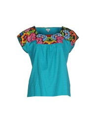 Hoss Intropia Shirts Blouses Women Turquoise