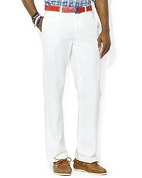 Polo Ralph Lauren Classic Fit Flat Front Chino Pant White
