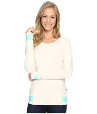 The North Face Street Lounge Crew Tnf Oatmeal Heather Women's Long Sleeve Pullover Beige