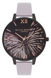 Olivia Burton Women's After Dark Butterfly Leather Strap Watch 38Mm