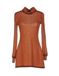 Blugirl Blumarine Knitwear Turtlenecks Women Camel