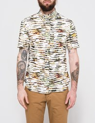 Gitman Brothers Vintage S S Splatter Camo Button Down Multi