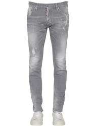 Dsquared 16.5Cm Cool Guy Cotton Denim Jeans Grey