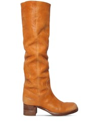 Dsquared 50Mm Jack Over The Knee Leather Boots Camel