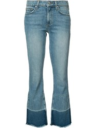 Derek Lam 10 Crosby Light Wash Cropped Jeans Blue