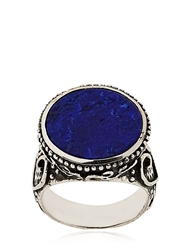 Gfase Lazarus Silver And Lapis Ring Blue Lapis