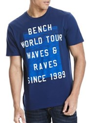 Bench Graphic Printed Cotton Tee Bright White
