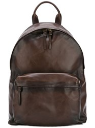 Officine Creative Oc Backpack Unisex Calf Leather One Size Brown