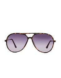 The Idle Man Thick Frame Tortoise Shell Aviator Brown