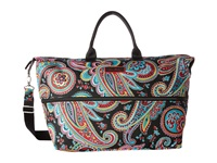 Vera Bradley Luggage Lighten Up Expandable Travel Bag Parisian Paisley Luggage Brown