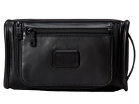 Tumi Alpha 2 Leather Travel Kit Black Travel Pouch