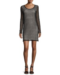 See By Chloe Long Sleeve Crochet Dress Black