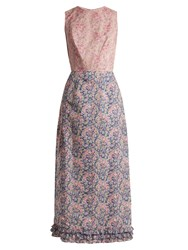 The Vampire's Wife Mermaid Liberty Floral Print Cotton Dress Pink Print